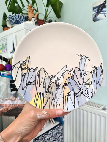 Made by Harriet dog plate, made by harriet ceramic, dog plate