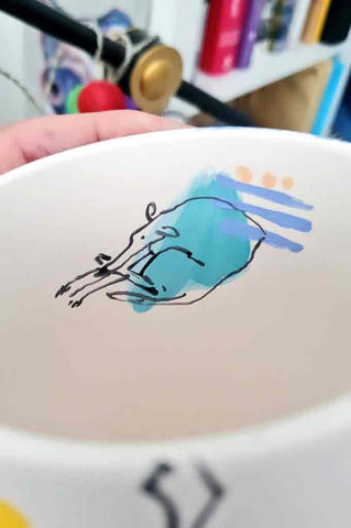hand illustrated ceramics