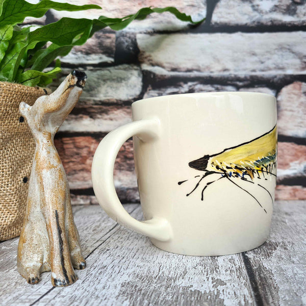 Hand Illustrated Dog Mug one of a kind