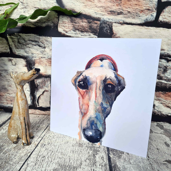 Square greyhound and lurcher card, 3 designs