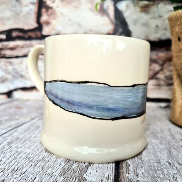 One of a kind hand illustrated Pointy Nose Dog Mug