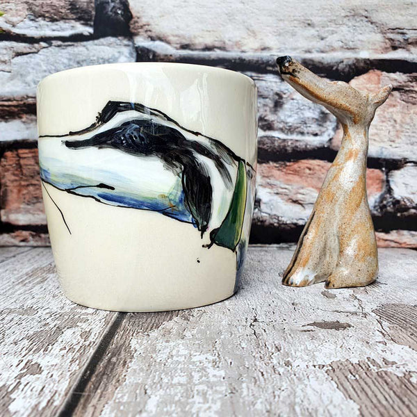 One of a Kind Hand Illustrated Dog Mug