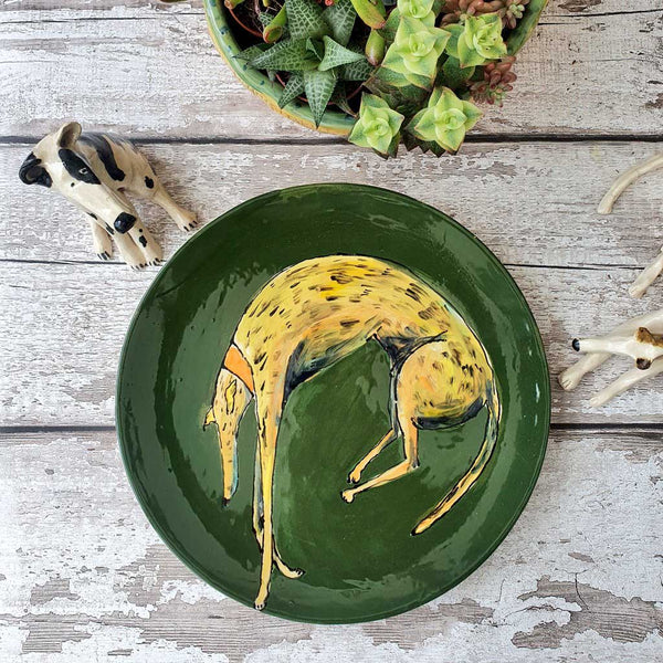 Hand Illustrated Ceramic Dog Plate