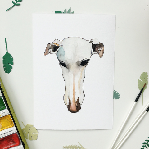 Galgo / Greyhound giclee print A5 or A4