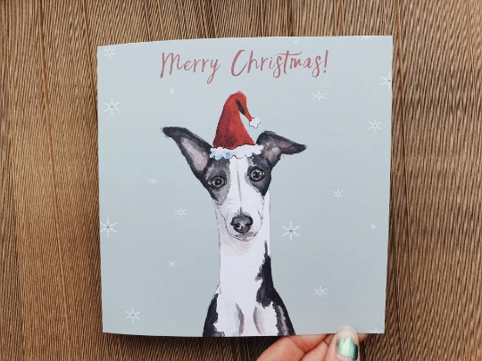 Dog Xmas card Square