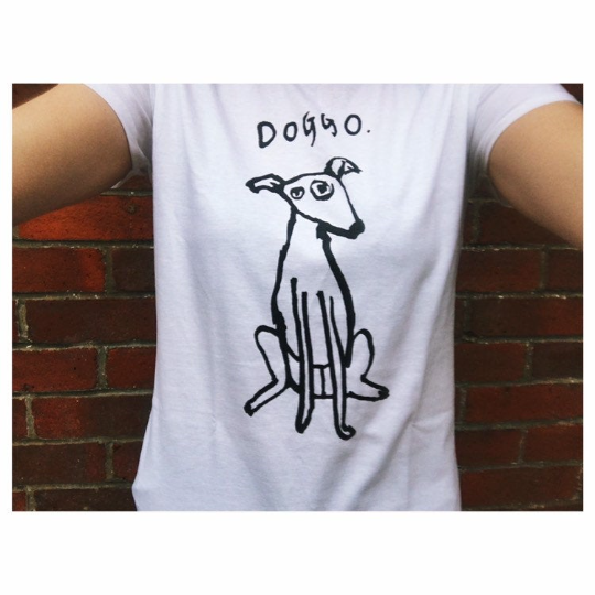 Doggo T-shirt Womens Black or White