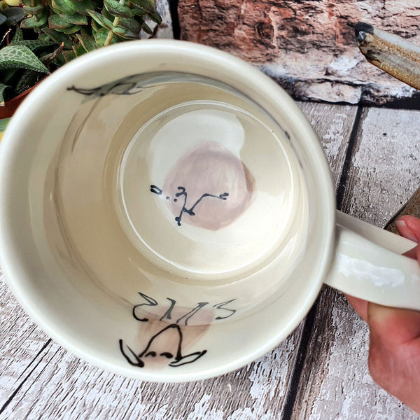 SALE NOW 50% OFF *SECONDS* (grade B) of Lucky Dip Single 10oz Hand Illustrated Colour Dog Mug