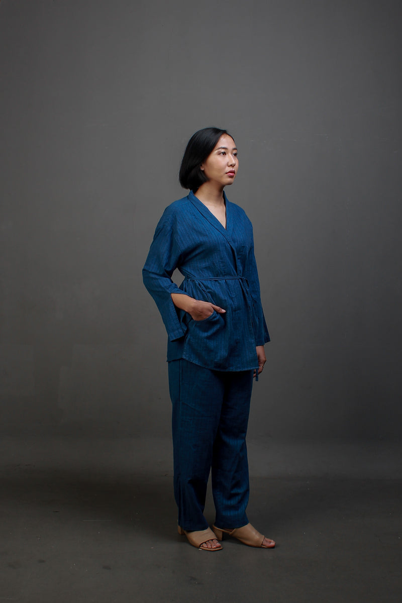 JANI TOP ASH BLUE ALL SIZE - JALIN