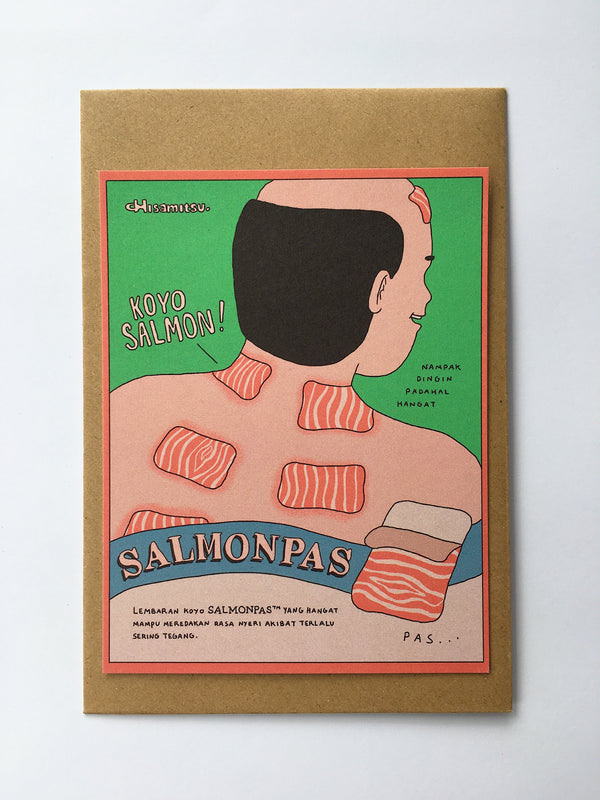 SALMONPAS GREETING CARD - SHERCHLE