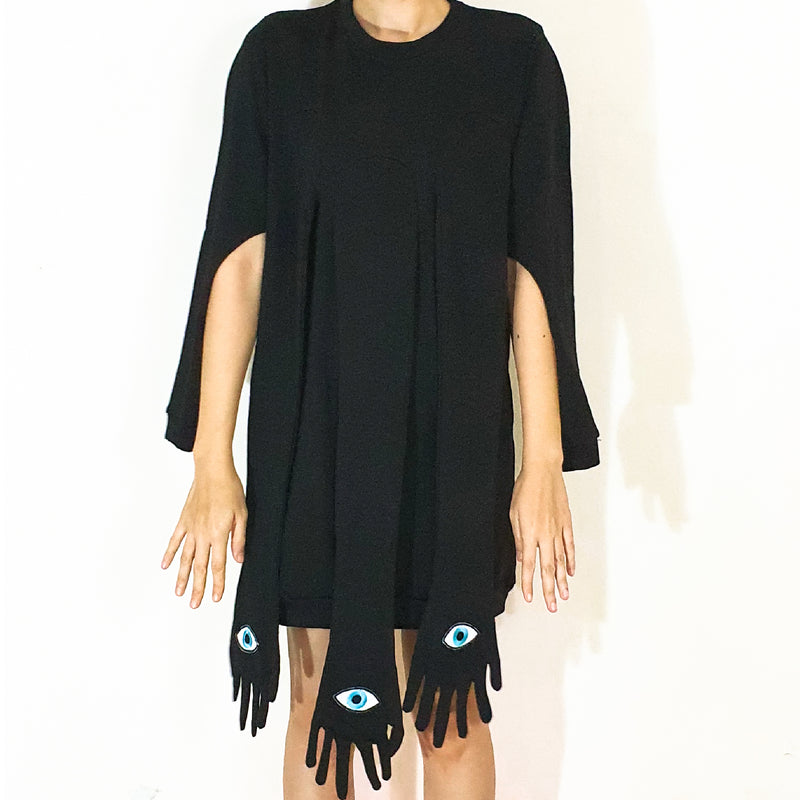 DIVINE DRESS SWEATER BLACK - UGLY
