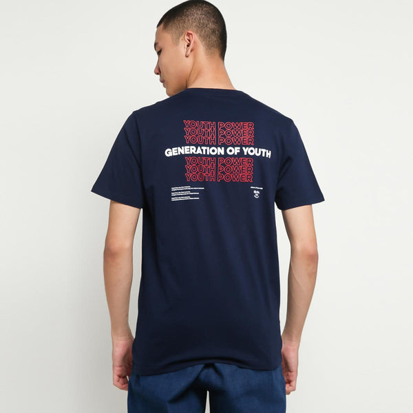 GENERATION OF YOUTH NAVY TSHIRT - SATOE NOESA