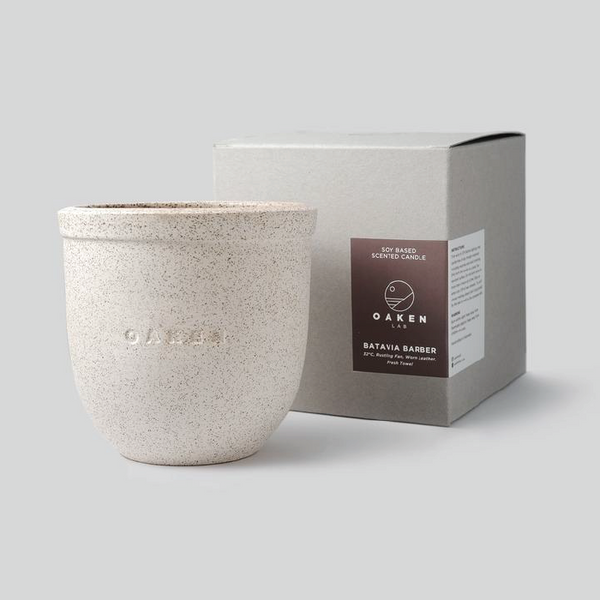 CERAMIC CANDLE SMALL - OAKEN LAB
