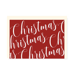 CHRISTMAS LETTERING PATTERN CARD  - CHLEA PAPERIE