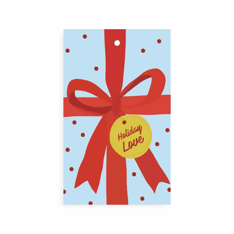 HOLIDAY RED BOW GIFT TAG - CHLEA PAPERIE
