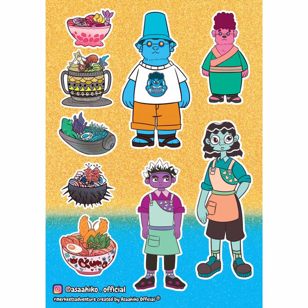 RAMEN BEAR GANG Print - Asaahiko Official
