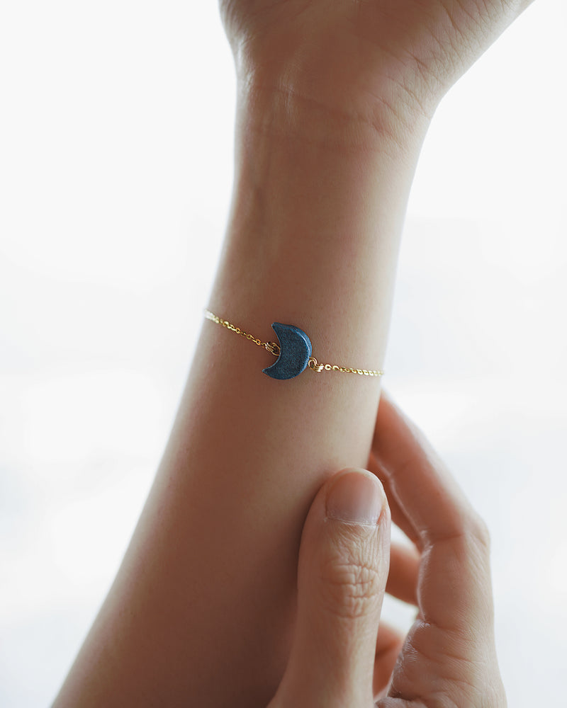 Pearl Navy Moon Bracelet - Kavas Jewels