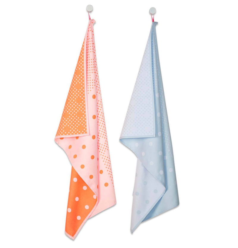 S&B TEA TOWELS BIG DOTS - HAY