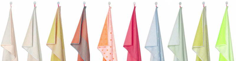 S&B TEA TOWELS RANDOM DOTS - HAY