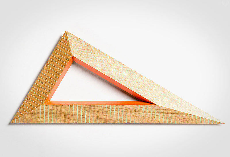 WOODEN TRIANGLE  RULER - HAY