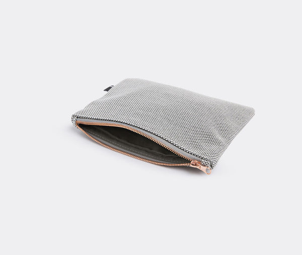 ZIP PURSE L LIGHT GREY - HAY