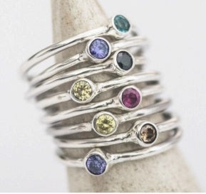 Birth Stone ring - by LYKA