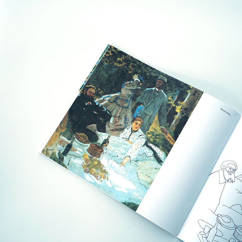 Coloring Book Claude Monet