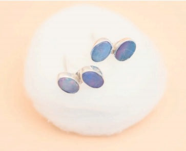 Double opal stud  - by LYKA