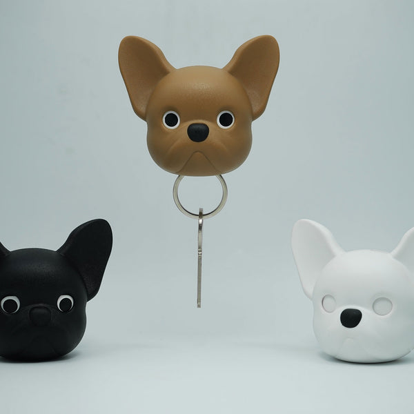 Frenchy Dog Key Holder Black – Qualy