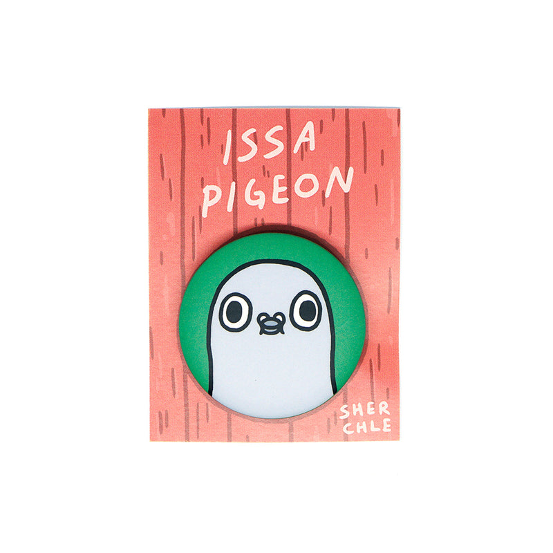 Issa Pigeon Button Pin – Sherchle