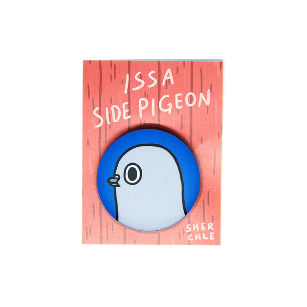 Issa Side Pigeon Button Pin – Sherchle