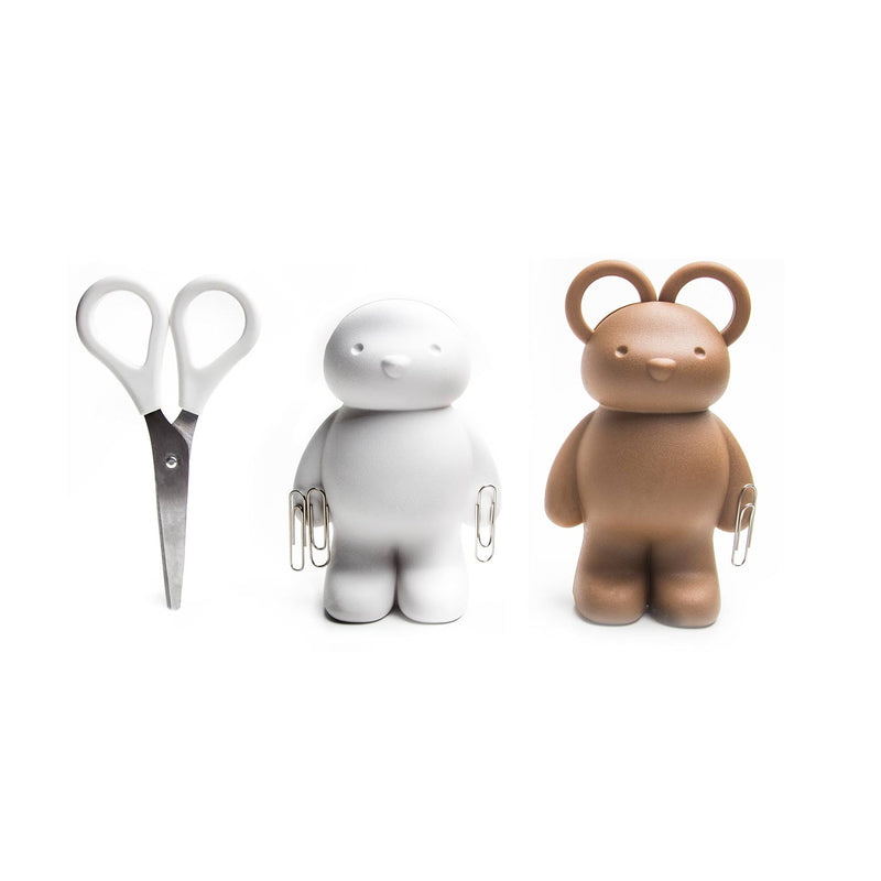 Teddy Bear Scissors Kit Brown – Qualy