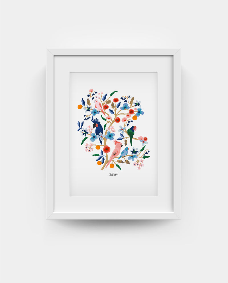 The Birds of Paradise Print - Ayang Cempaka