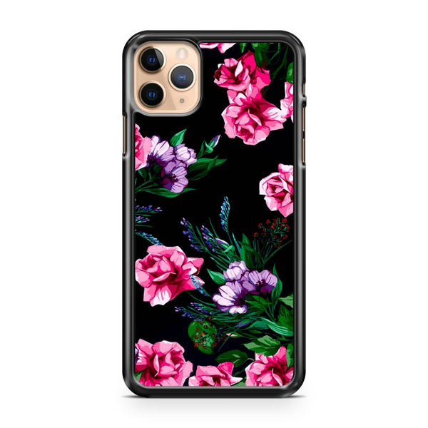 Kate Spade Lux Floral Pink Black iPhone 11 Pro Max Case Cover