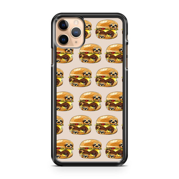 Sloth Burger Funny Animal iPhone 11 Pro Max Case Cover