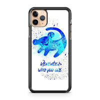 Lion King Remember Who You Are Disney Fan Art iPhone 11 Pro Max Case Cover