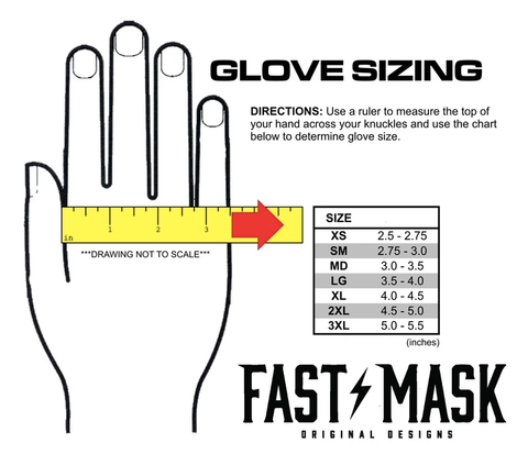 Fast Mask Motorcycle Gloves Size Chart