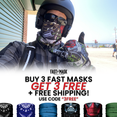 BUY 3 FAST MASKS & GET 3 FREE PLUS FREE SHIPPING. USE CODE 3FREE AT CHECKOUT