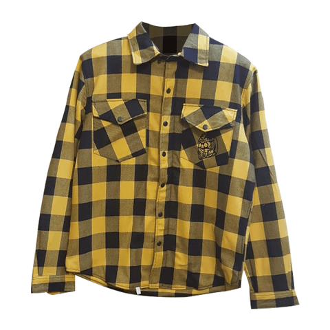 Fast Mask Yellow Plaid Kevlar Lined Armoured Flannel Shirts - * PRE-SALE SHIPPNG DEC 14TH*