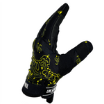 Black & Yellow Motorcycle gloves - Fast Mask