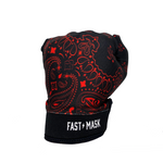 BLACK & RED PAISLEY FAST MASK MOTOCROSS & BIKE GLOVES