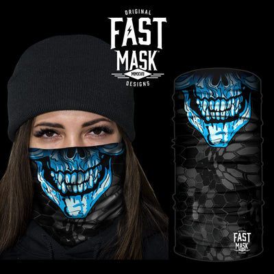 Blue Skull Face Mask - Fast Mask