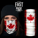 Canada Flag Fleece Face Mask - Fast Mask