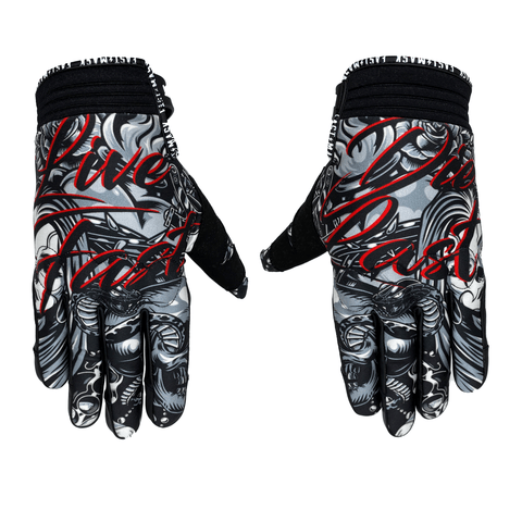Live Fast Die Last Cholo  Motorcycle Gloves