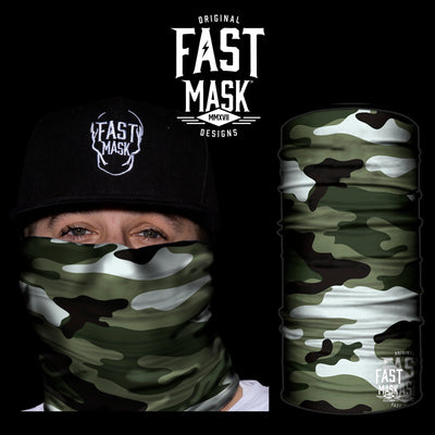 Classic Camo Face Mask * Now With Sewn Edges* - Fast Mask