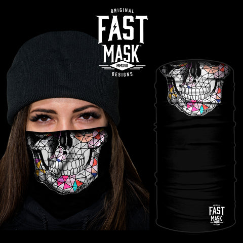 Crystal Skull Fleece Face Mask
