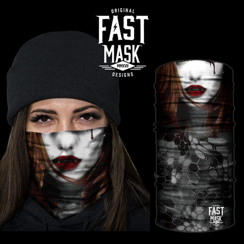 Female Vampire Face Mask * Now With Sewn Edges* - Fast Mask