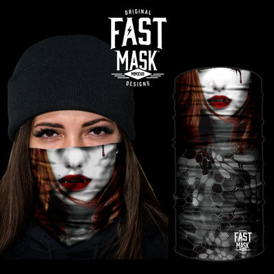 Female Vampire Fleece Face Mask - Fast Mask