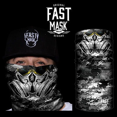 Gas Mask Fleece Face Mask - Fast Mask