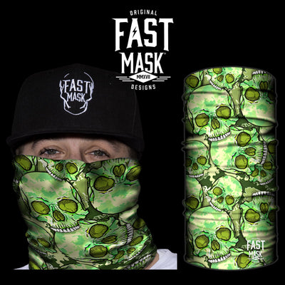 Green Skulls Face Mask - Fast Mask
