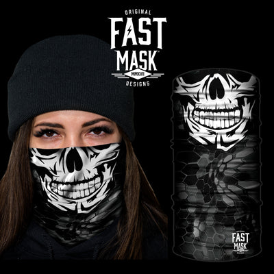 Happy Skull Fleece Face Mask - Fast Mask